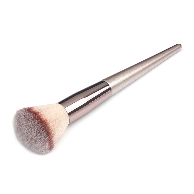 Wooden Champagne Makeup Brushes Set for Foundation Powder Blush Eyeshadow Concealer Lip Eye Make Up Brush Luxury Cosmetics Tools 4