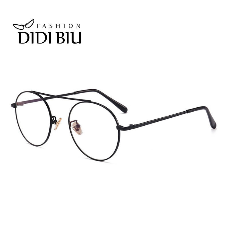 9a7c0016fa44 DIDI Small Round Vintage Clear Leopard Glasses Frame Women Men Thin Metal  Decorate Eyeglasses Optical Spectacle Glass Frame W784