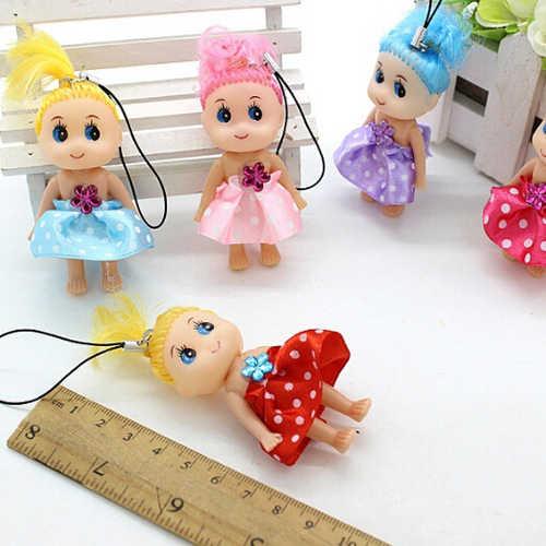 1 ピース多色 6pcs ミニトゥンドールベスト玩具ガール混乱人形キーチェーン電話ペンダント飾りランダムな色ホット販売