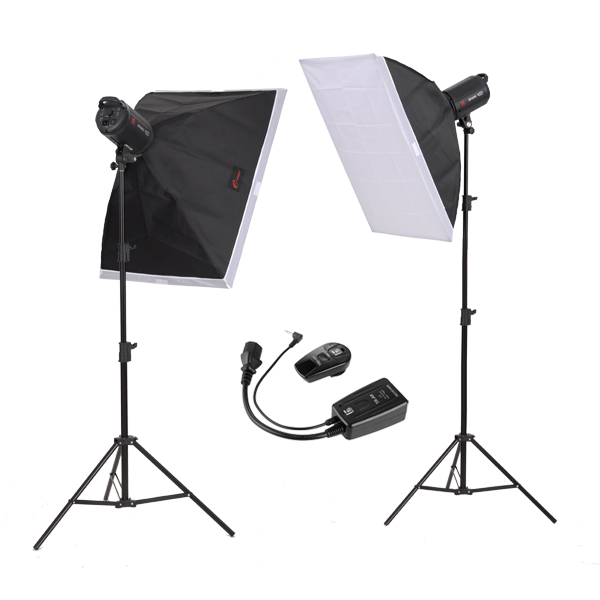jinbei 400w Studio Flash Kits, Studio Lighting Jinbei photographic equipment portraitist softbox Portable studio kit Cd50 полки столлайн орион стл 225 22