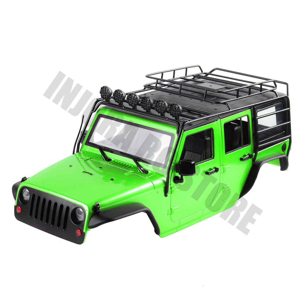 INJORA 7 Color Available 313mm Wheelbase Body Shell+ Roll Cage for 1/10 RC Crawler Jeep Wrangler Axial SCX10 SCX10 II 90046-in Parts & Accessories from Toys & Hobbies    2