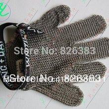 Нержавеющая сталь металлической сетки Детская Безопасность перчатки-5 палец двусторонний-он может использовать в левой или правой рукой