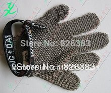 Stainless Steel Metal Mesh Safety Glove - 5 finger Reversible it can use in Left or Right hand Made France