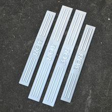 цена на Stainless steel door sill strip for 308 PEUGEOT 2011 12 13 14 5 Threshold trim car styling welcome pedal Scuff plate guard cover