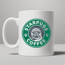 Star Pugs mugs coffee mug ceramic novelty porcelain beer tea cups home decal kitchen drinkware