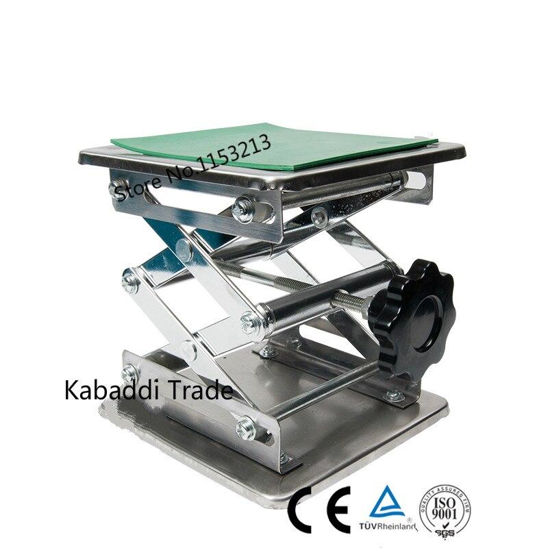 Laboratoire Jack laboratoire Support vérins 150x150x250mm en acier inoxydable peinture Table élévatrice plate-forme de levage 6''inch exportation vers l'europe