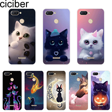 ciciber Cover For Xiaomi Redmi 6 5 4 3 A X 3S Plus Pro Phone Case Note 7 Coque Soft TPU Cute Animal Cat