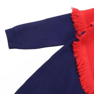 Image 4 - שמלת בנות מסיבת סתיו סוודר שמלת בנות פסים ילדים שמלת חורף בנות בגדים סרוגים 6 8 10 12 13 14 שנה