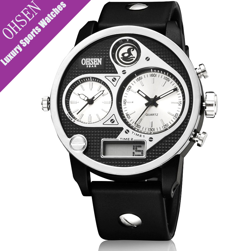 OHSEN Mens Watches font b Top b font font b Brand b font font b Luxury