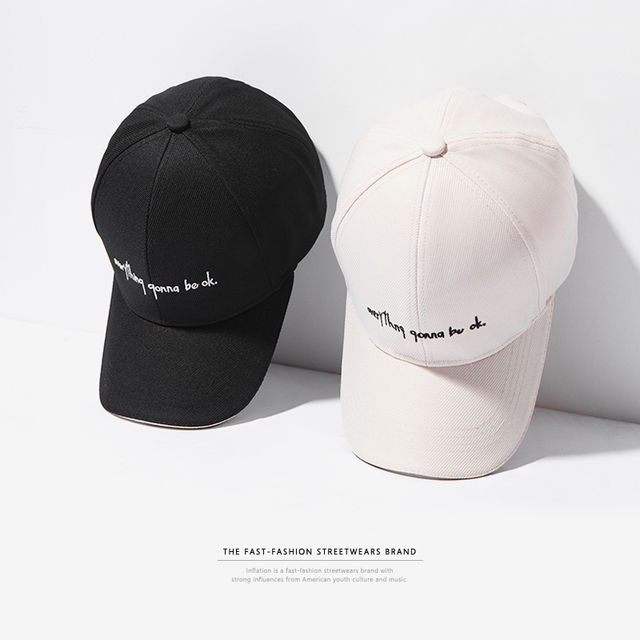 14c42c72675b6 INFLATION   Everything gonna be ok   Dad Snapback Caps Women Brand Hats For
