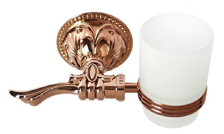 Free Shipping,Single Tumbler Holder,Toothbrush Cup Holder,rose Gold finish glasss cup,Bathroom Accessories RG001b
