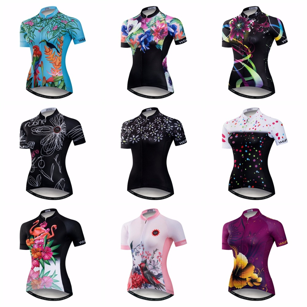 Weimostar Cycling Jersey Women's Bike Jersey 2019 Road MTB Bicycle Shirt Team Ropa Ciclismo Maillot Racing Tops Female Ladies