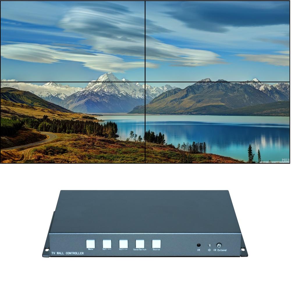 Processador de vídeo wall, Controlador De Vídeo Wall, 2x2 1x3 1x2 2x1 3x1 HDMI VGA entrada De Vídeo USB