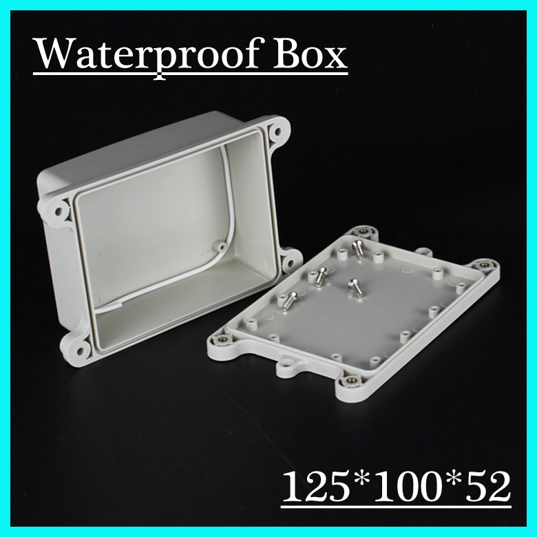 (1 piece/lot) 125*100*52mm Grey ABS Plastic IP65 Waterproof Enclosure PVC Junction Box Electronic Project Instrument Case 1 piece lot 320x240x110mm grey abs plastic ip65 waterproof enclosure pvc junction box electronic project instrument case