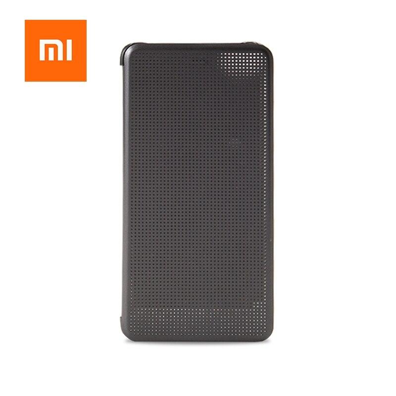 imágenes para Original Del Caso Del Tirón para Xiaomi Mi5s Inteligente Wake Up Cubierta de PC + PU Inteligente Matriz de Legislación Protectora Cubierta Millas 5S serie