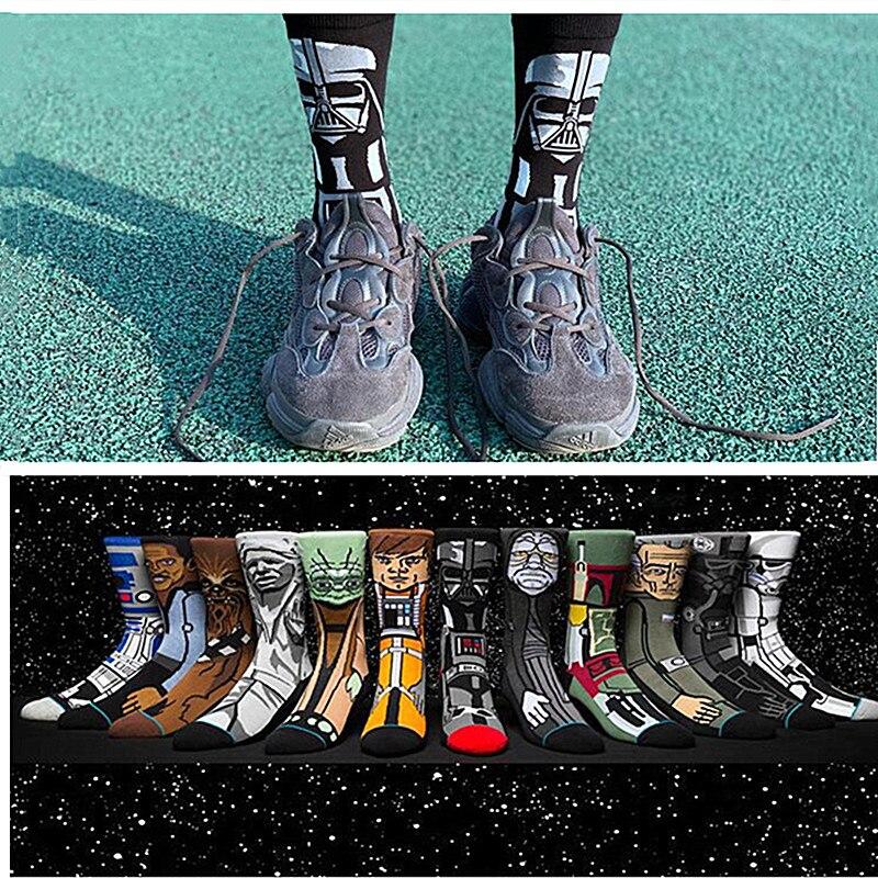 Star Wars Jedi Knight Master Yoda C-3PO Wookiee Cosplay Socks Comics Women Men Force Awakens Socks Lovely Gifts