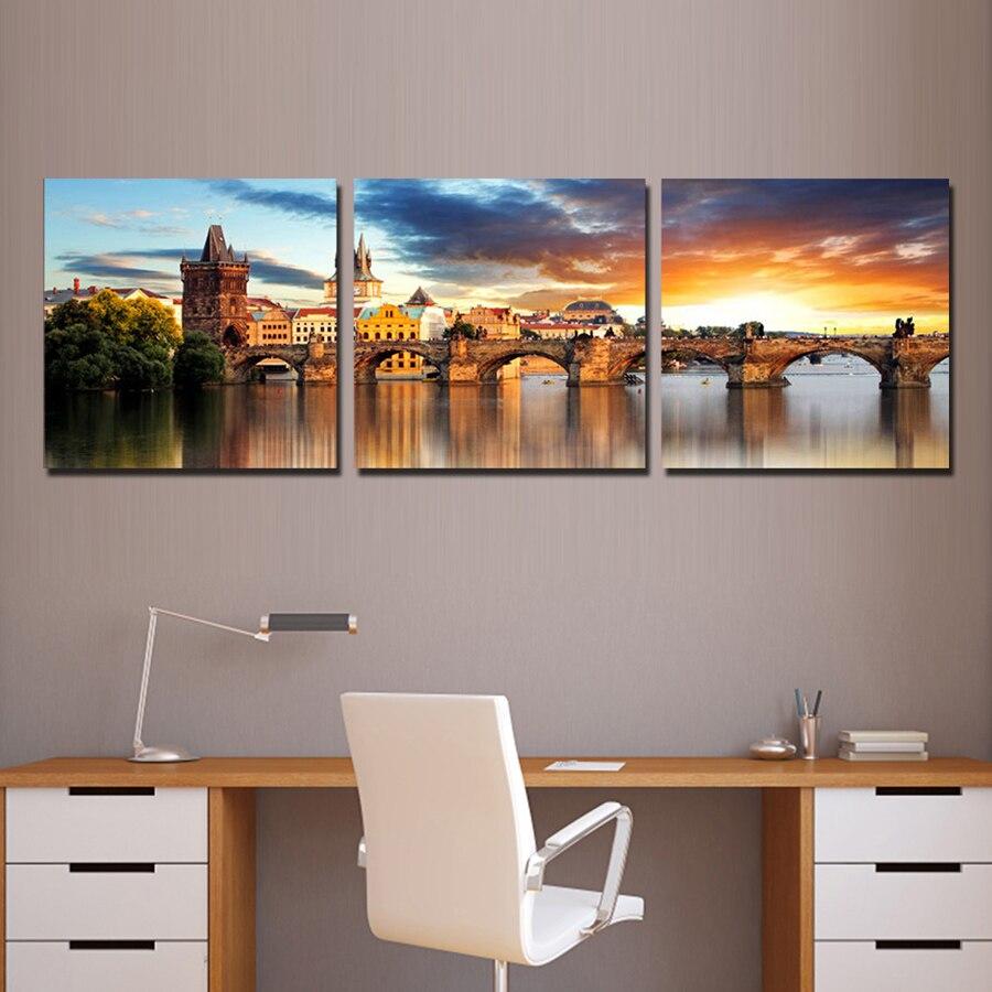 Home Decor Modern Paintings The Vltava River Landscape ...