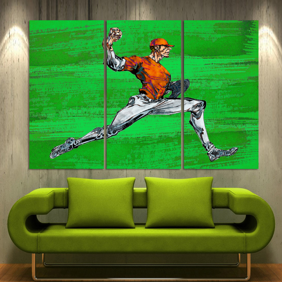 Fashion Canvas Printing Abstract Sports Man 3 Pieces Canvas Picture Home Decoration On Wall For Living Room Restaurant A043