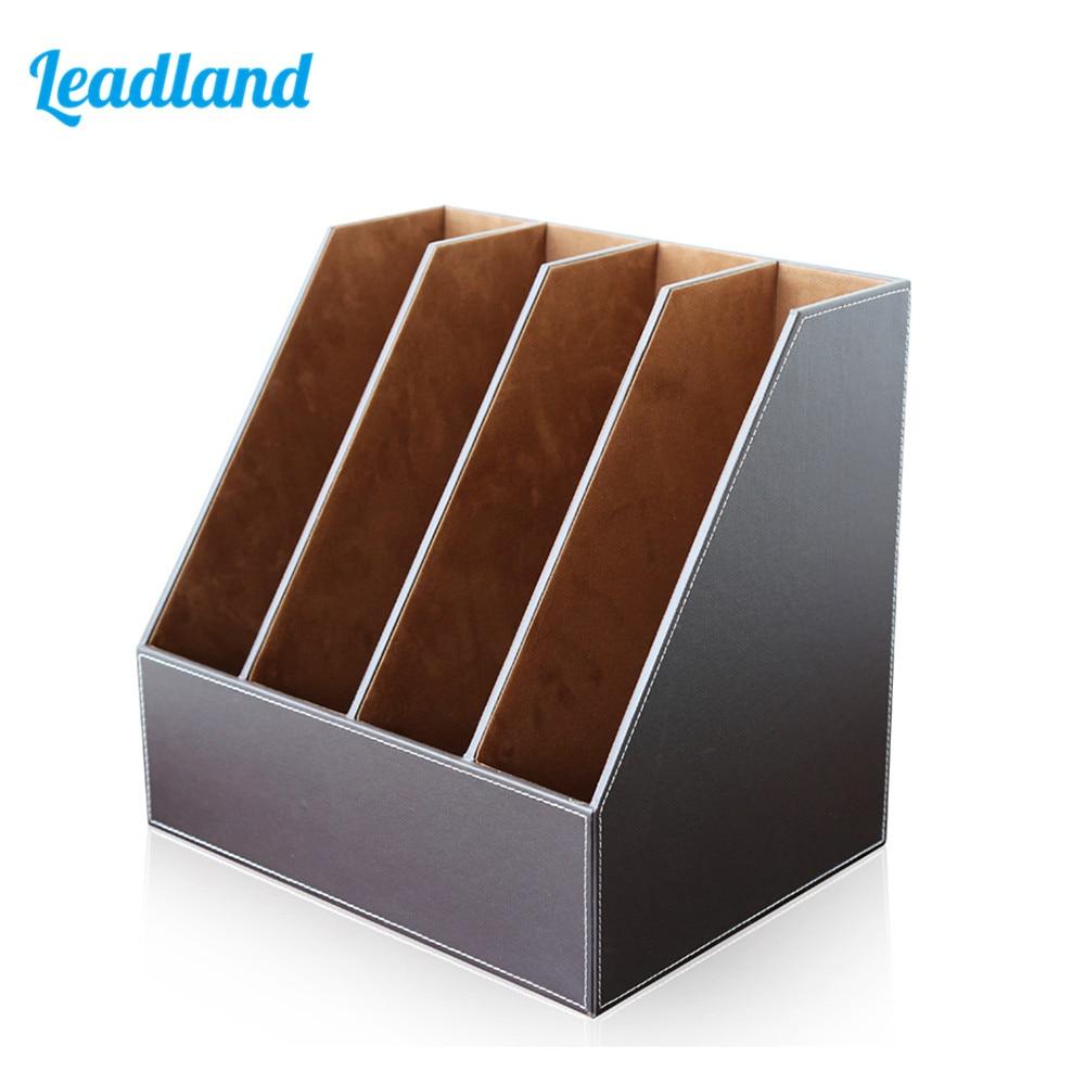 4 Slots Plateau de Fichier Organisateur porte-fichiers Support Bureau & Fournitures Scolaires Papier cas porte revues Support