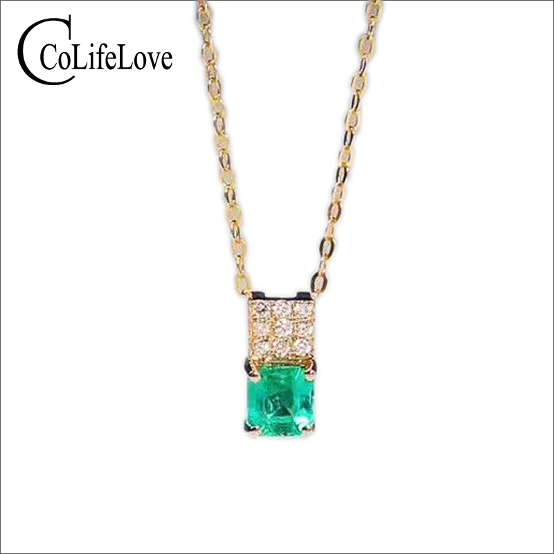 Elegant small silver emerald pendant 4 mm * 4 mm natural emerald necklace pendant sterling silver emerald pendant for party планшет samsung galaxy tab tab e sm t561 8gb white sm t561nzwaser