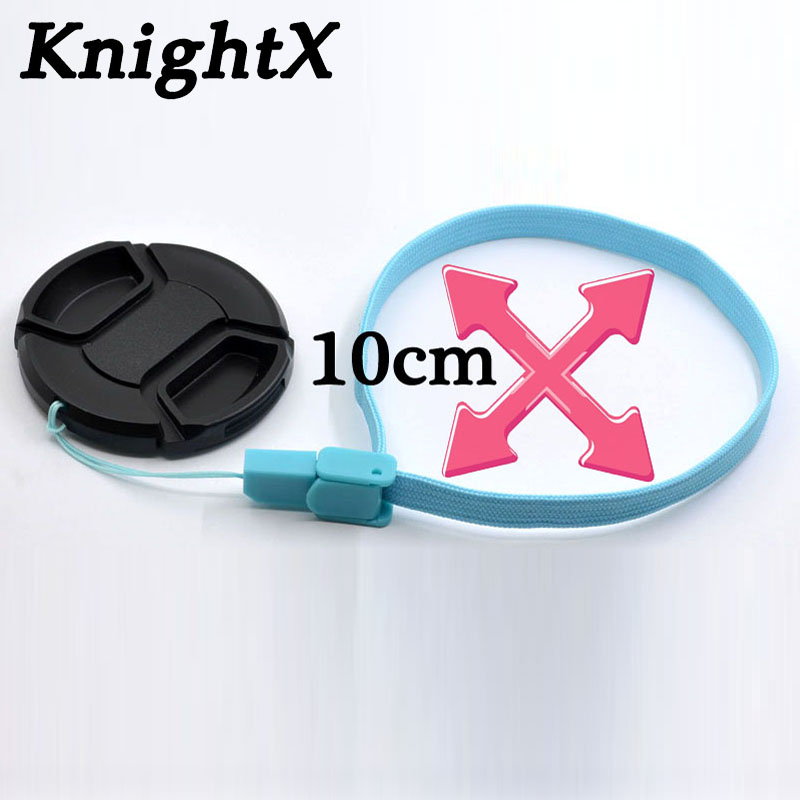 KnightX camera lens cover Black Snap-On 52mm Lens Cap for Canon EF 50mm f/1.8 II EF, 35mm f/2 accesorios camara fotocamera image