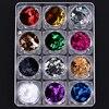 12pcs Set Mix Colored Glitters Cartoon Design Flakes For Nail Art Decors Manicure DIY Sequins Supply