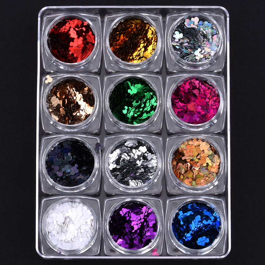 Herzhaft 12 Teile/satz Mix Farbige Glitters Cartoon Design Flakes Für Nail Art Dekore Maniküre Diy Pailletten Liefern Yst09 Schönheit & Gesundheit Nails Art & Werkzeuge