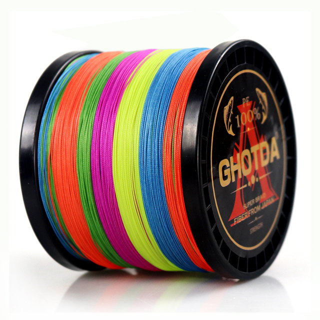 Amazing GHOTDA 8 Strands PE Braided Fishing Line Fishing Lines cb5feb1b7314637725a2e7: Black|Blue|Green|Grey|Multicolor|Orange|Pink|White|Yellow