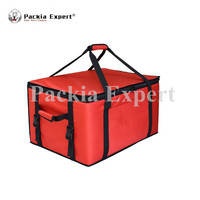 20 L x 17 W x 10 H Pizza Delivery Box, Big Pizza Delivery Bag, Catering Carrier, Motorcycle 2 Way Zipper Closure Zl 534730