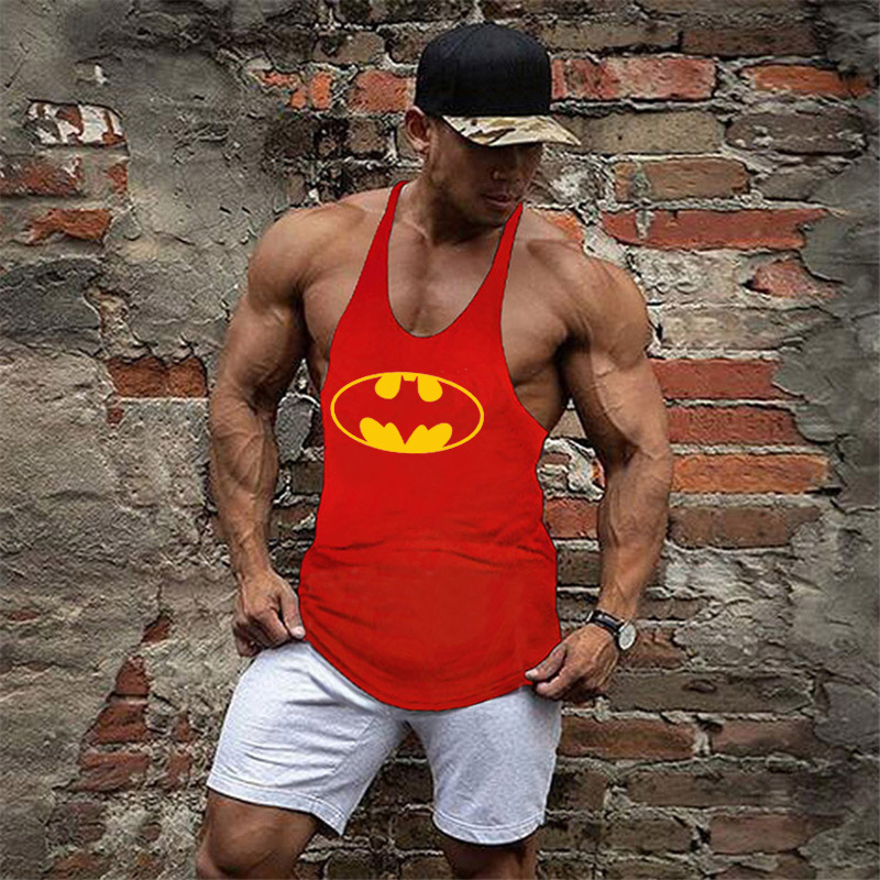 Brand Clothing Muscle Bodybuilding Stringer Tank Top Mens Fitness Singlets Cotton Sleeveless shirt Workout Sportwear Undershirt 47