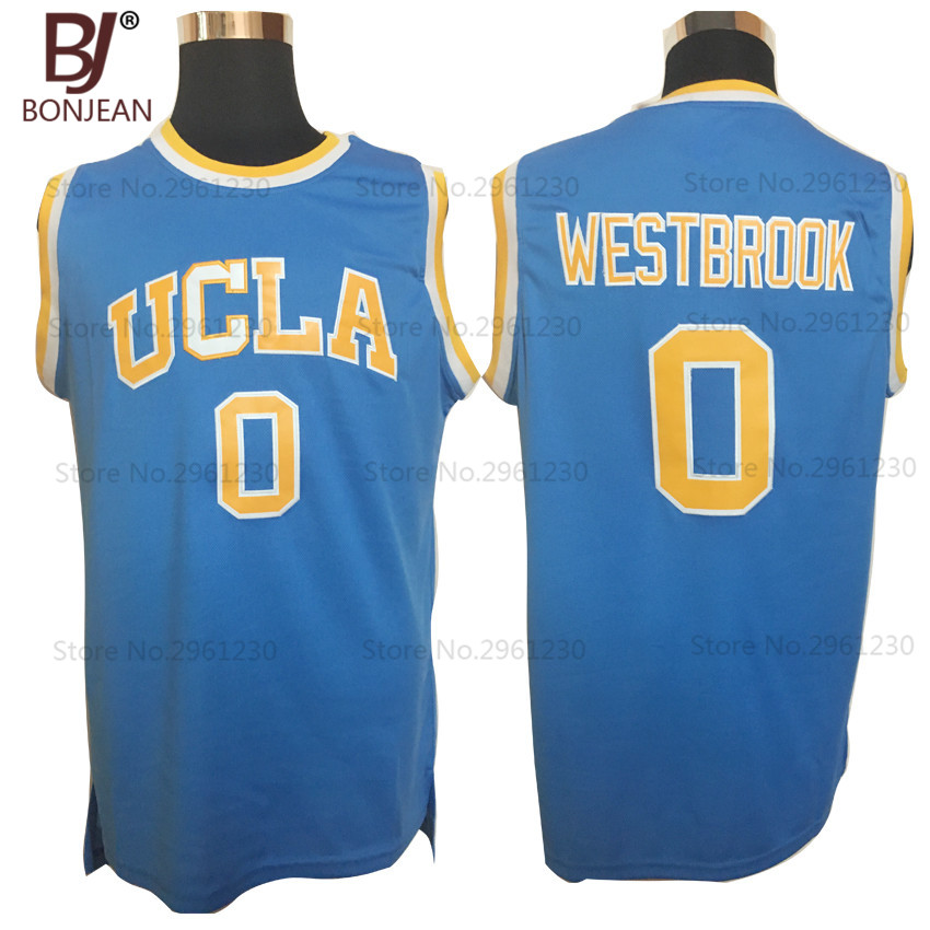 BONJEAN Cheap Russell Westbrook #0 UCLA Bruins College Basketball Jersey Retro Uniforms Stitched Mens Shirts 3 Color ...