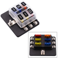 6 Way Auto Fuse Holder 32V 30A Fuse Block For Car Boat Accessories Marine CY884 CN