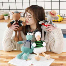 Creative Cute Small Duck Mouse Crocodile Wolf Plush Toys Stuffed Doll Toy Children Soothe Baby
