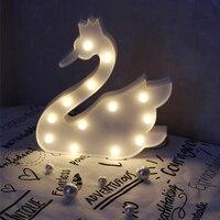 البجعة البيضاء الدجاجة النمذجة جنية الليل abs البلاستيك طاولة مكتب مصباح جو غرفة الزفاف الديكور هدية تأثيث المنزل