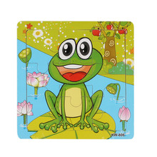 Fashion Frog Wooden Kids Children Jigsaw Education And Learning Puzzles Toys Free Shipping
