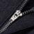 SHAN BAO marca ropa de alta calidad de la cremallera de los hombres pantalones casuales otoño y el invierno cálido pantalones de lujo negro de gran tamaño 29-40