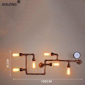 Image 4 - Punk de vapor loft industrial ferro ferrugem tubulação água retro lâmpada parede do vintage e27 arandela luzes para sala estar restaurante quarto barra