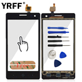 """4.5"""" Phone Touchscreen Front Glass For ZTE Blade GF3 Touch Screen Digitizer Touch Panel Outer Lens Sensor Flex Cable Replace"""