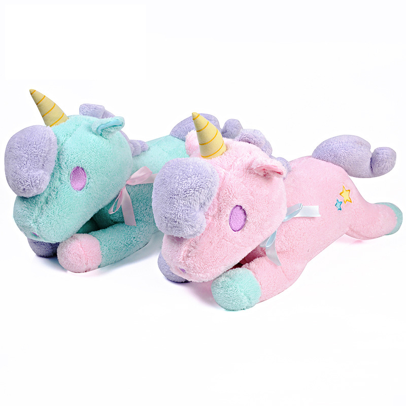 Cute Unicorn Plush Toy Convenience Tissue Pumping Doll Stuffed Toy Birthday Gift For Girls 47cm*35cm