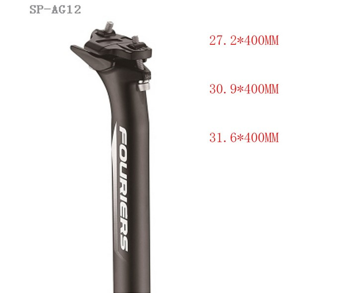 FOURIERS Bicycle MTB Seatpost integrated forging Aluminium Alloy Mountain Road Bike Seat Post 27.2 mm /30.9mm/31.6mm X400MM