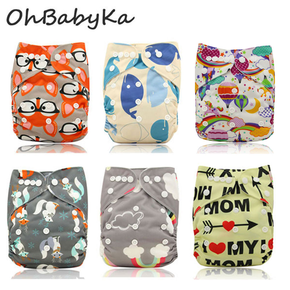 Ohbabyka Baby Diapers Adjustable Reusable Baby Nappy ...