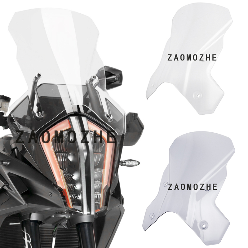 Motorcycle Windshield Windscreen Airflow Wind deflector Screen for <font><b>KTM</b></font> <font><b>1290</b></font> <font><b>Super</b></font> <font><b>Adventure</b></font> R / <font><b>S</b></font> 2017 2018 <font><b>2019</b></font> image