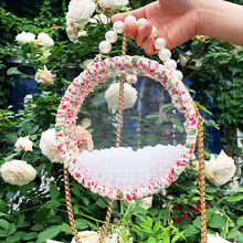 Woven Bag Acrylic Transparent Round Ins with The Package Diy Cotton Line Handmade Cloth Fashion Messenger