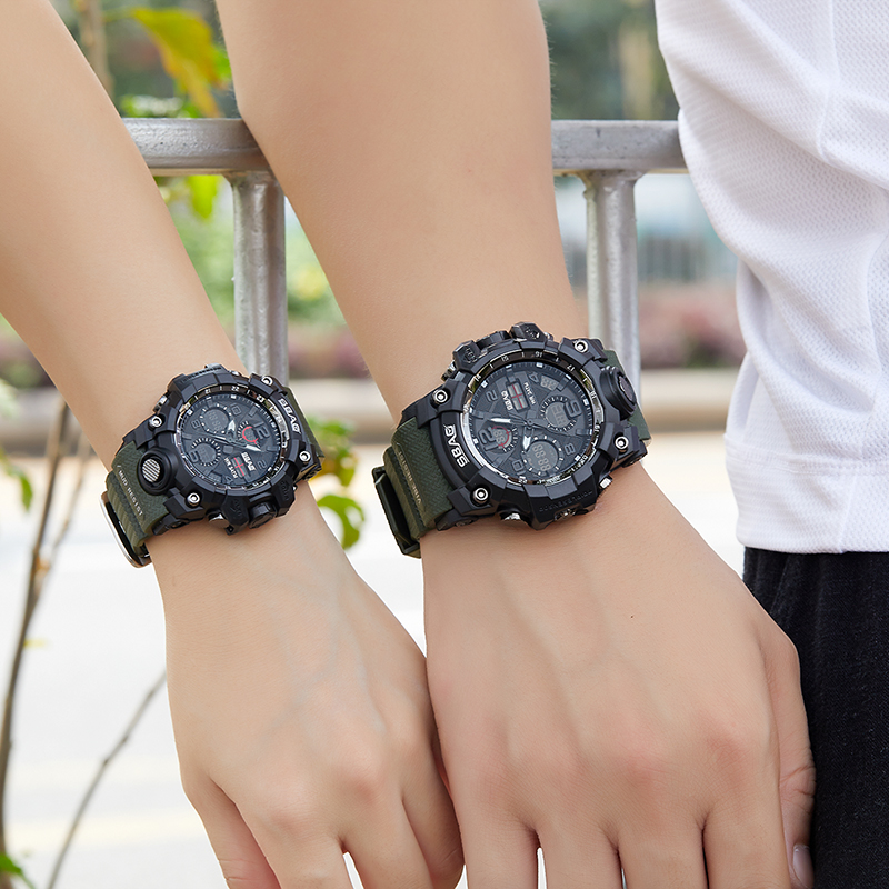 Lovers Watches Dual Display Digital LED Electronic Quartz Wristwatch Waterproof Sport Watch for Men and Women 2019 Couple Watch in Lover 39 s Watches from Watches