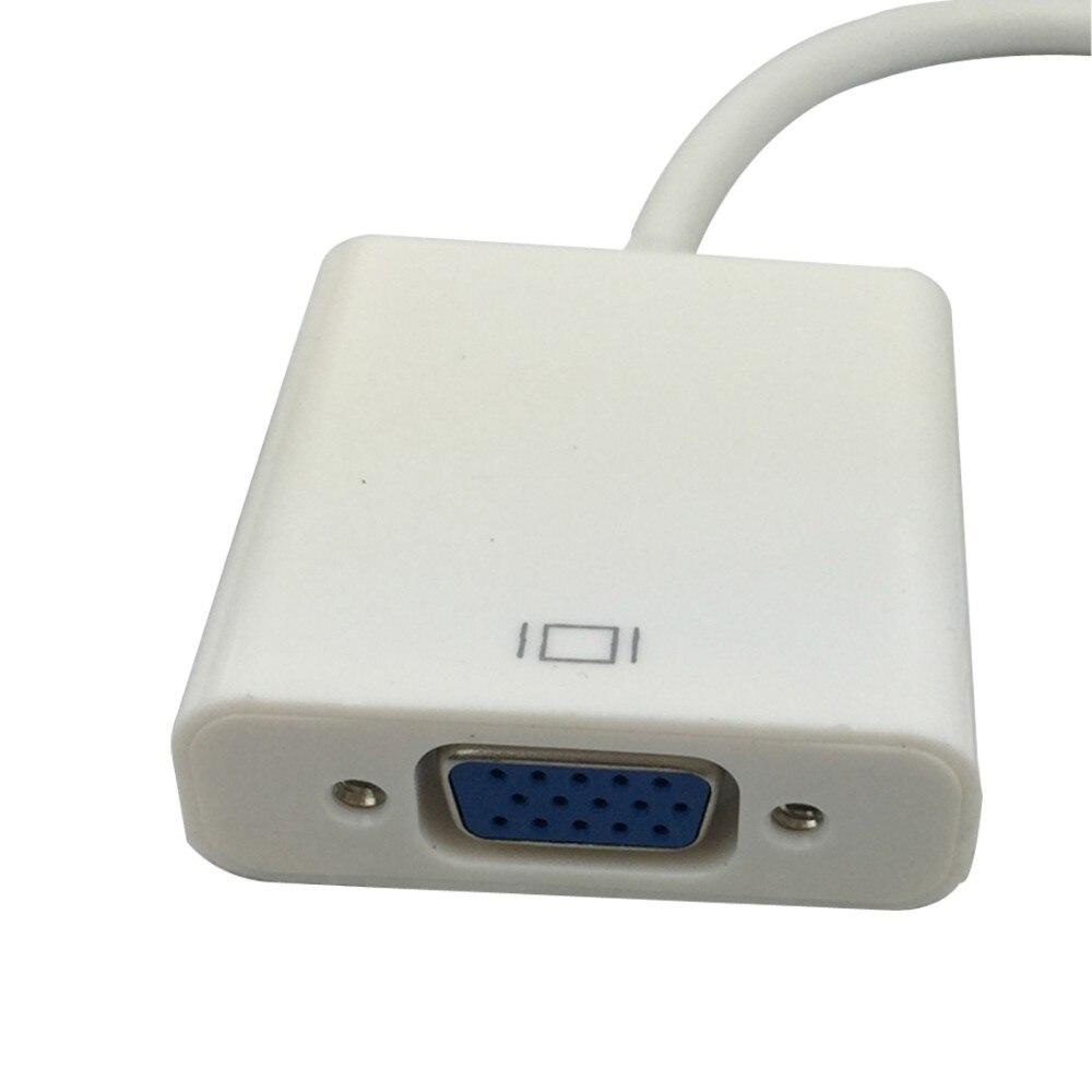 1080P מיקרו HDMI ל-VGA מתאם מיקרו HDMI זכר לנקבת VGA ממיר מתאם+3.5 מ