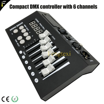 LCD Display 54CH DMX Controller with 6 Controller Master Fader 54 Channels 9 Programs Disco Club DMX Console Freeshipping