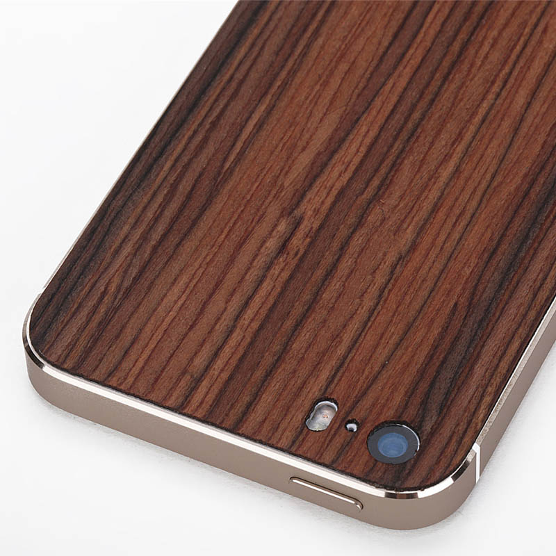 pretty nice eac3d c522c Wood Case For iPhone 5 5S Real Wooden Phone Back Cover Sticker Case ...
