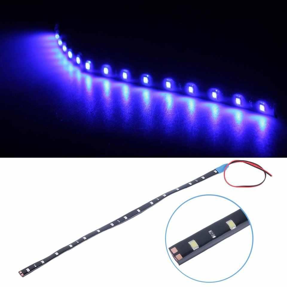 Nueva tira de luces LED IP67, resistente al agua, para coche, 15 LED, 30cm CC, 12 V, tira, lámpara, 5 colores, oferta