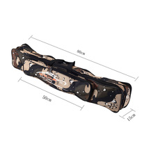 Two Layers Fishing Bag 80cm Fishing Tackle Bag Double Layer Fishing Rod Lure Backpack Pole Bag for Fishing