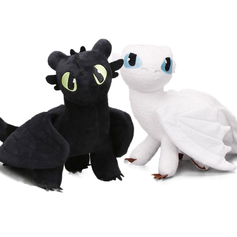Light-Fury Train Plush-Toys Animal-Dolls How Dragon White Toothless Stuffed 35cm Meatlug